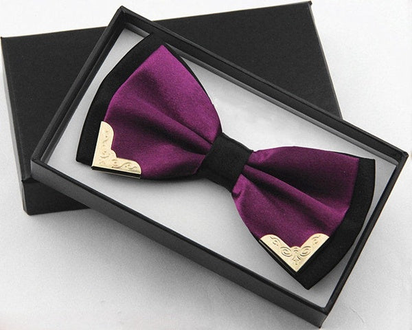 The British men's dress double metal bow tie