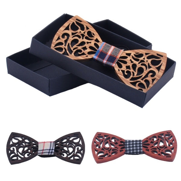 2017 New Arrival Wood Bow Tie For Men Classic Wooden Bowties Neckwear Butterfly Wedding Cravats Accessories Bowknot