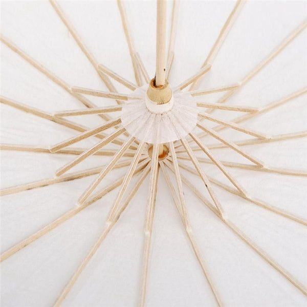 White Color Paper Decorative Umbrella Parasol Wedding Party Decor Photo Cosplay Prop