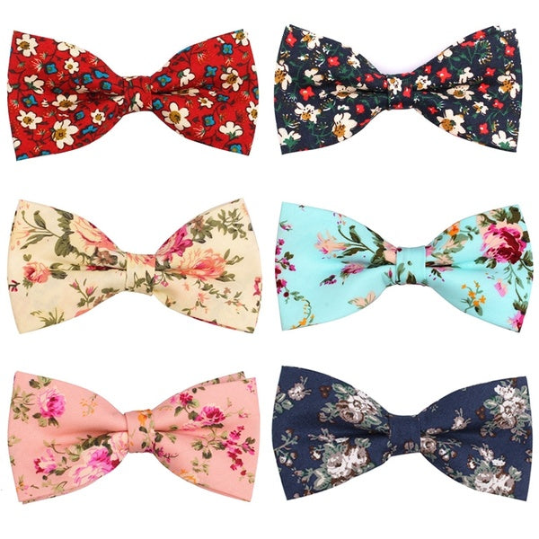 Suits Cotton Bow Ties For Men Cravats Fashion Adjustable Floral Bowtie for Wedding Party Groom Butterfly Adult Casual Bowties