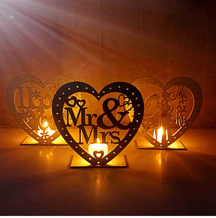 LED Wooden Wedding Decoration
