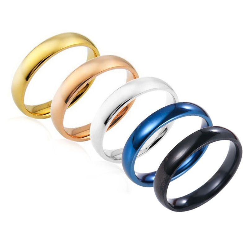 Stainless Multicolored Steel Rings