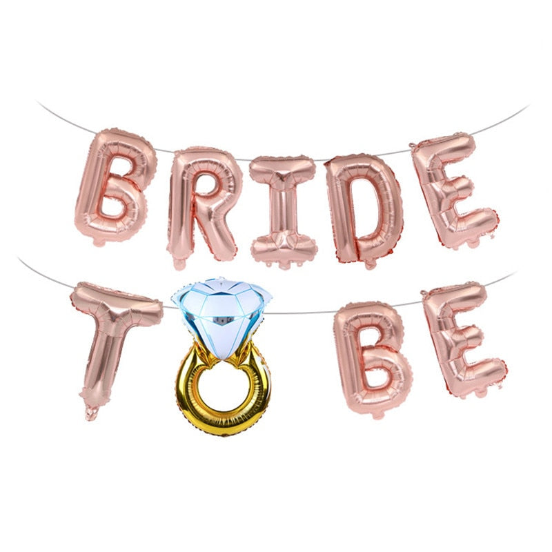 Bride To-Be Letter Foil Balloons