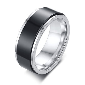 Couples Jewelry Wedding Ring Spinner Black Color Stainless Steel Engagement Brands Lovers' Men Women Bridesmaid Gifts