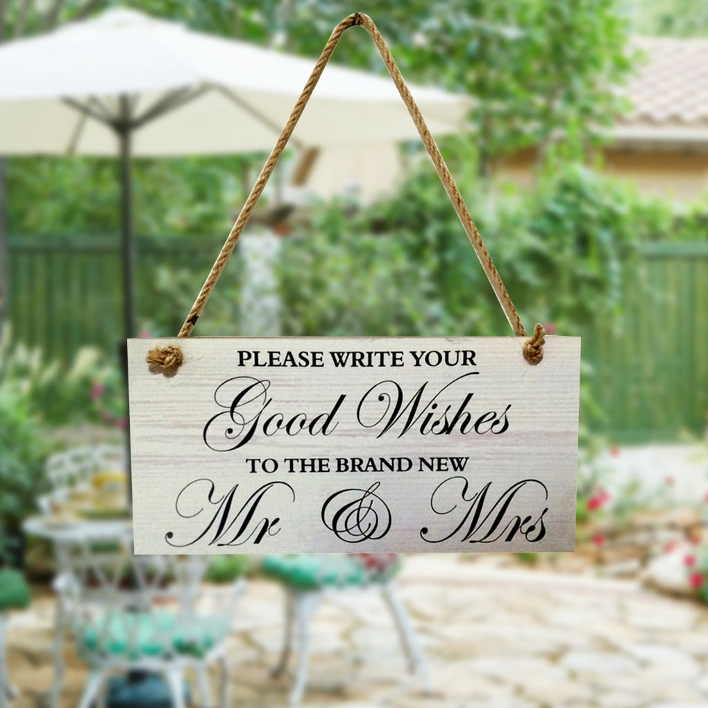 Wooden Sign Board Decoration