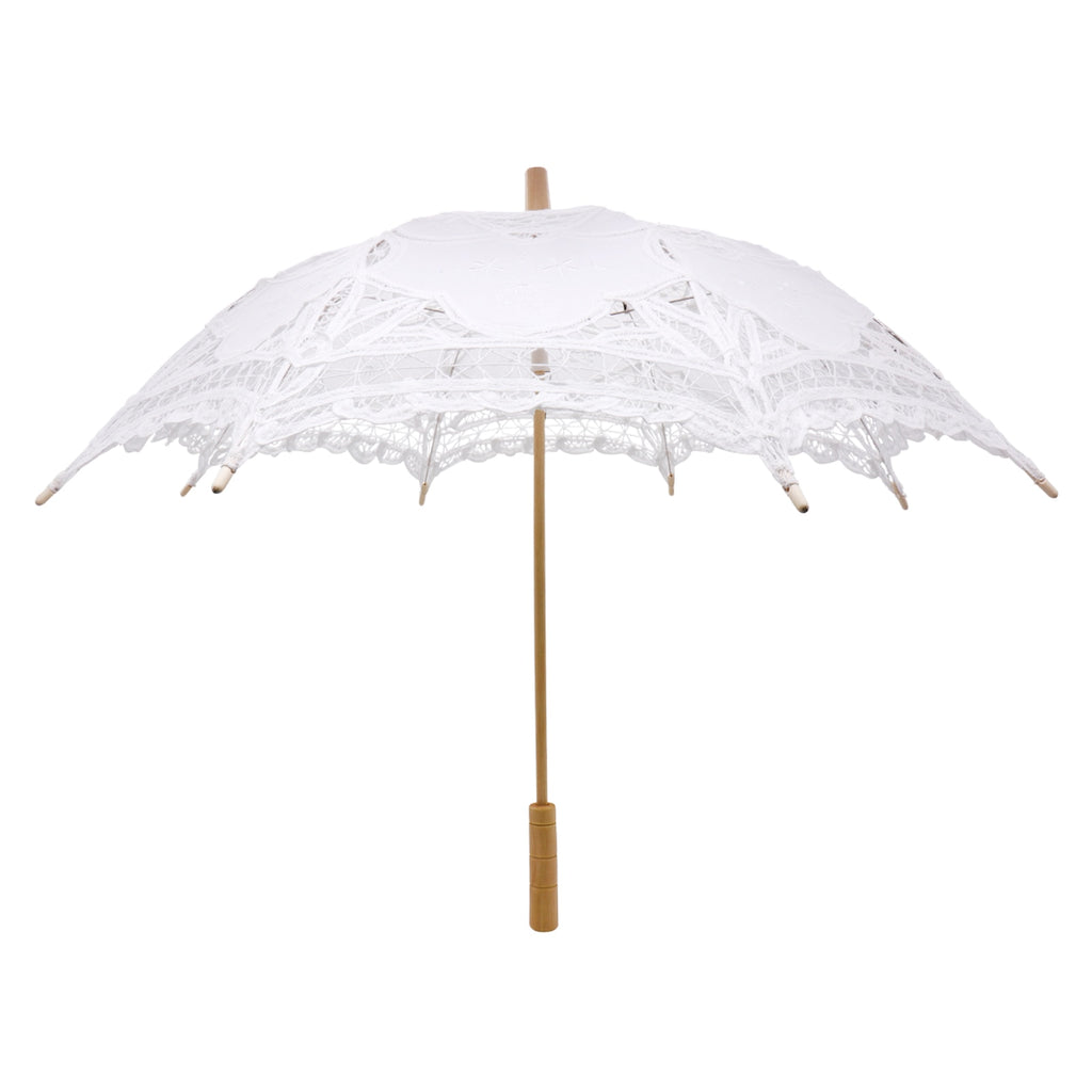 Mini Brandenburg Lace White Umbrella Wedding Bridal lace Parasol Vintage Umbrella for Bridal Bridesmaid,Wedding Gift