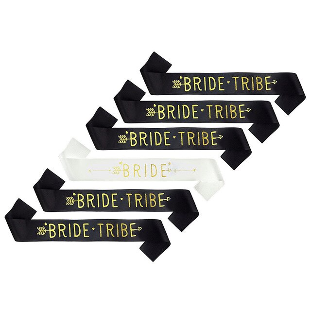 Bride Party Bridesmaid Tribe Sash Bachelorette Party Bridal Shower Decorations Favors Gifts Wedding Bridesmaid Sash Decor