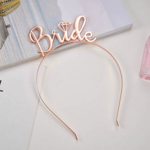 Bride Bridesmaid Tiara Crown Headband Bachelorette Hen Party Bride To Be Wedding Decoration Supplies Girls Night Gift