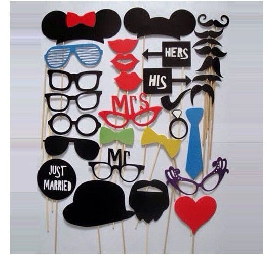 31 pcs/set Wedding Photo Booth Props