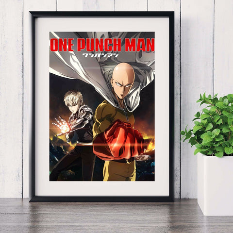 One Punch Man Canvas Poster no frame
