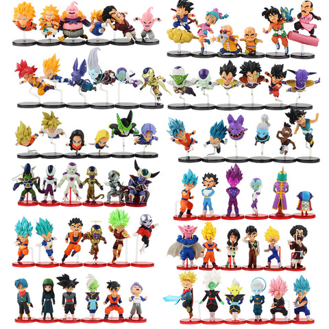 6pcs/sets Dragon Ball Z Collectible Figures
