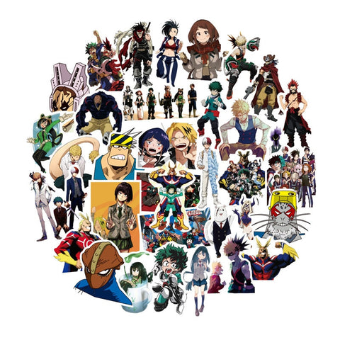 50Pcs/pack My Hero Academia Anime Sticker Gifts For Kids