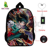 My Hero Academia Characters Multifunction USB Charging Backpack