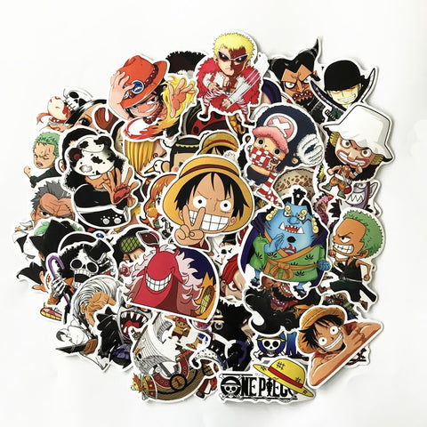 61Pcs/pack One Piece Stickers