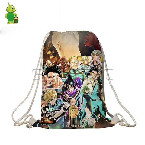 One Punch Man Drawstring Bag