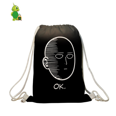 One Punch Man OK Drawstring Bag