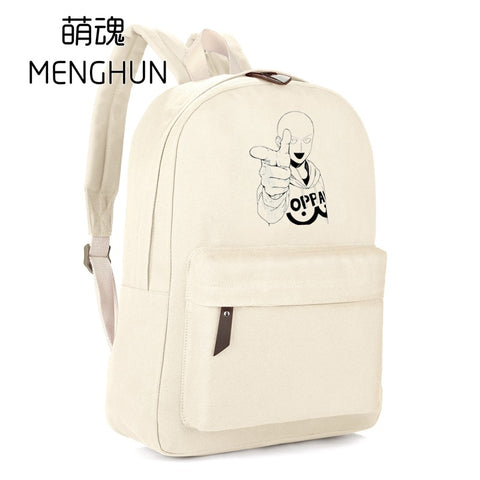 One Punch Man White Backpack