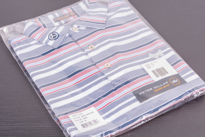 2017 PGA Scotty Dog Tour Tech Wheaton Stripe Midnight polo
