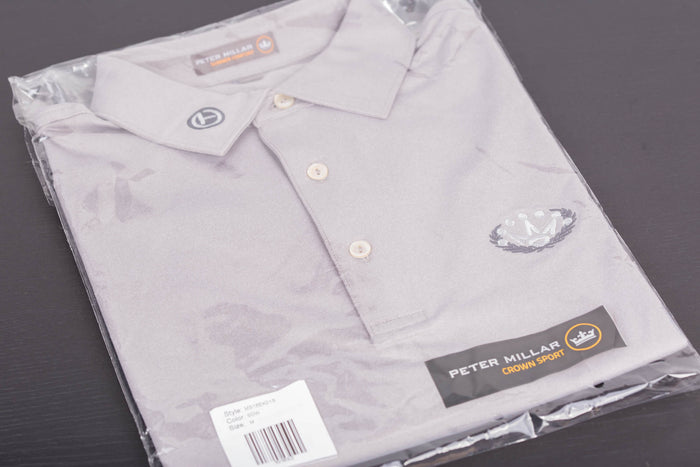 2018 Open Tour Tech Laurel Crown Shadow Peter Millar Polo