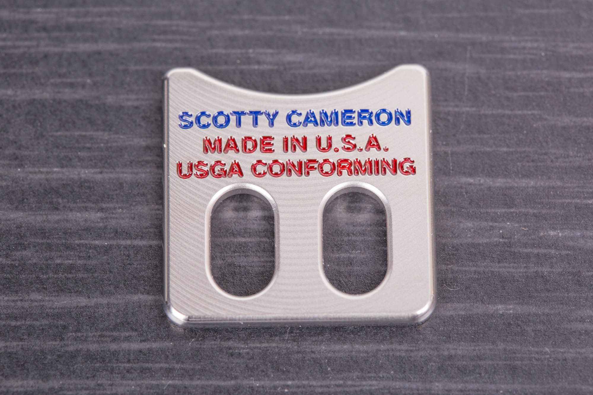 Scotty Cameron 2019 US Open ball alignment tool marker with windows