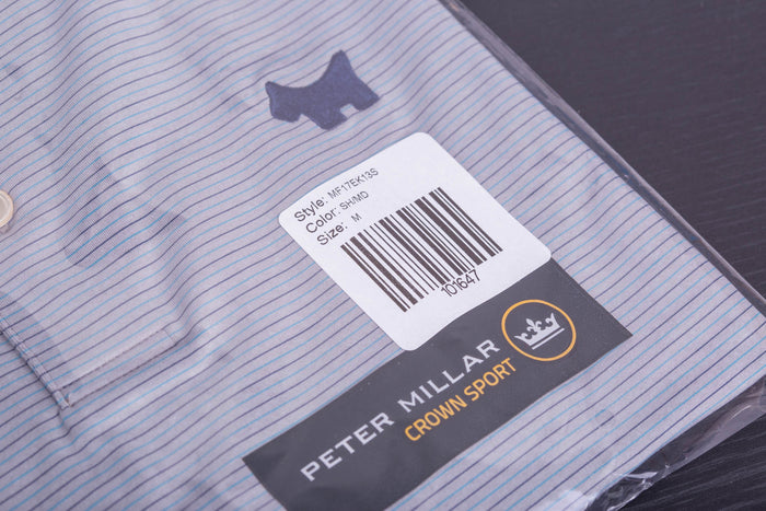 2017 Holiday Tour Tech Chesapeake Stripe Shadow Polo