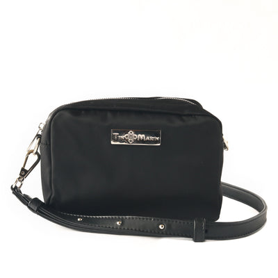 ashley black camera bag, nylon small crossbody bag, black shoulder bag, nylon bag, women handbags, detachable strap, synthetic leather