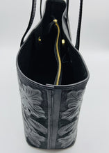 Load image into Gallery viewer, Atl Black Hand Tooled Leather Tote