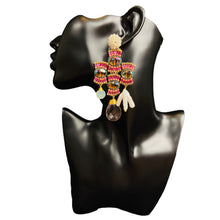 Load image into Gallery viewer, Bead Earrings- Joskua Handmade Unique Mexican Artisan Dangle Earrings Colores Decor