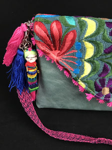 Blao Chiapas Embroidered Leather Clutch Colores Decor