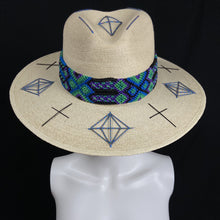 Load image into Gallery viewer, Chiapas Azul Handmade Floppy Beach Hat