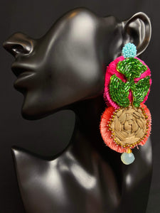 Eliana Unique Mexican Handmade Trendy Dangle Womens Earrings Colores Decor