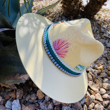 Load image into Gallery viewer, Hand Painted Fedora Hat- Palm Springs Straw Hat CoLores Decor | Mexican Artisan Fashion & Design