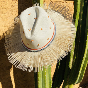 Hand Painted Fedora Hat- Tulum Straw Hat CoLores Decor | Mexican Artisan Fashion & Design