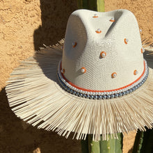 Load image into Gallery viewer, Hand Painted Fedora Hat- Tulum Straw Hat CoLores Decor | Mexican Artisan Fashion & Design