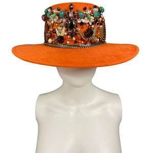 Handmade Boater Hat- La Gitana Mexican Artisan Hat Colores Decor