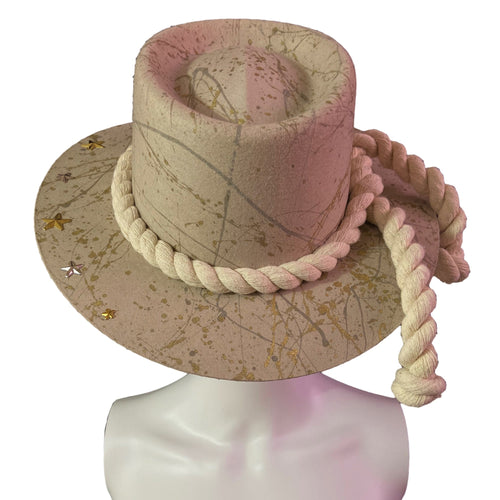 Handmade Boater Hat- Los Cabos Mexican Artisan Hat Colores Decor