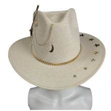 Load image into Gallery viewer, Handmade Cowboy Hat- A la Luna Mexican Artisan Straw Hat Colores Decor