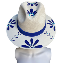 Load image into Gallery viewer, Hand Painted Fedora Hat- Talavera Straw Hat
