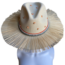 Load image into Gallery viewer, 2 STYLES in 1 Hand Painted Fedora Hat- Tulum Straw Hat