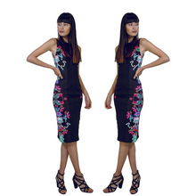 Load image into Gallery viewer, Mexican Fashion Black Dress - Nayibi Mexico Xochiquetzal Dress