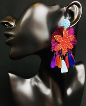 Load image into Gallery viewer, Jurhiata Unique Mexican Handmade Trendy Dangle Womens Tassel Earrings