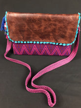 Load image into Gallery viewer, Kaan Maya Embroidered Leather Handbag Colores Decor