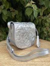 Load image into Gallery viewer, Kin Platino Hand Tooled Leather Crossbody
