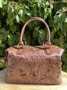 Kuali Expresso Hand Tooled Leather Travel Bag