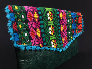 Laga Oaxaca Embroidered Leather Handbag Colores Decor