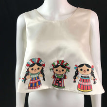 Load image into Gallery viewer, Mexican Designer Folklore Crop Tops Colores Decor