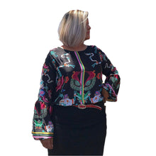 Load image into Gallery viewer, Mexican Fashion Silk Blouse - Nayibi Mexico Aztec Blouse Colores Decor