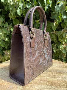 Mik Hand Tooled Leather Handbag