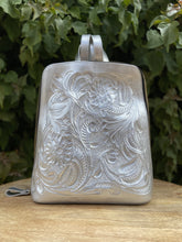 Load image into Gallery viewer, Nuuk Platinum Hand Tooled Leather Backpack