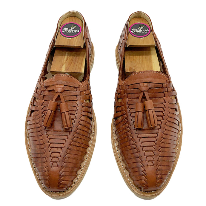 Mexican Huaraches- Mens Mexican Artisan Premium Leather Slip-on Huarache Sandal